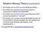 modern money theory conclusioni