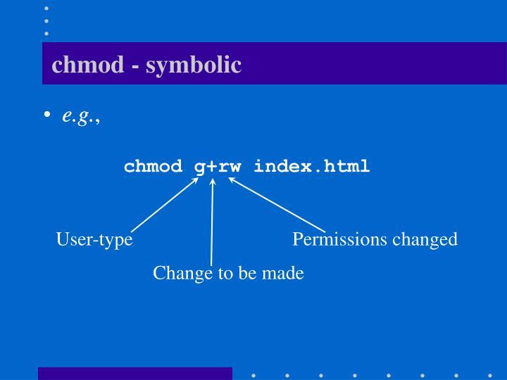 chmod - symbolic