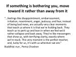 if something is bothering you move toward it rather than away from it