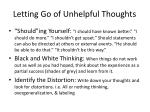 letting go of unhelpful thoughts