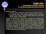 amas isn international scientific network for advanced materials and structures1