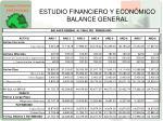 estudio financiero y econ mico balance general