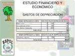 estudio financiero y econ mico gastos de depreciacion1