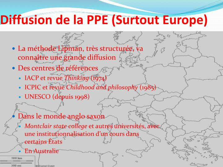 Diffusion de la PPE (Surtout Europe)
