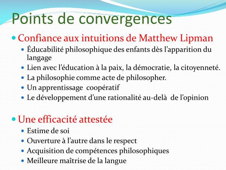 Points de convergences
