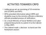 activities towards crpd1
