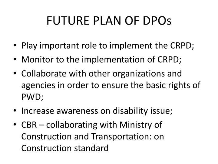 FUTURE PLAN OF DPOs