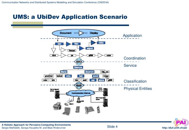 UMS: a UbiDev Application Scenario