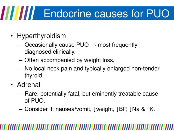 Endocrine causes for PUO