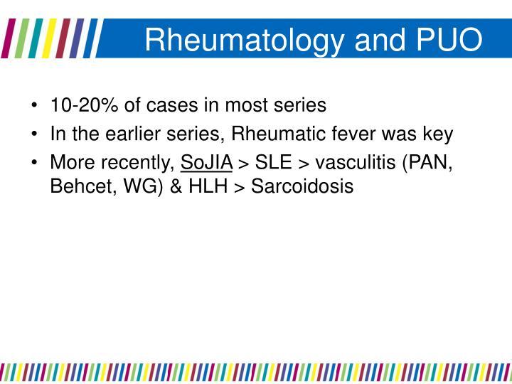 Rheumatology and PUO