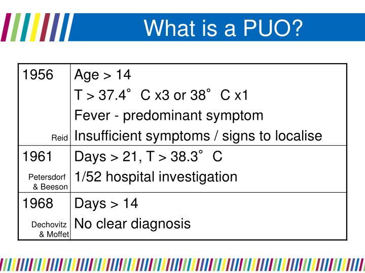 What is a PUO?