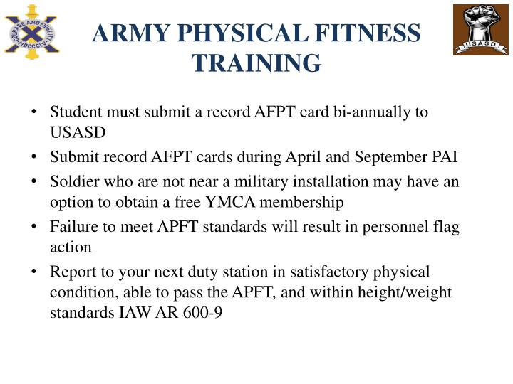 ARMY PHYSICAL FITNESS TRAINING