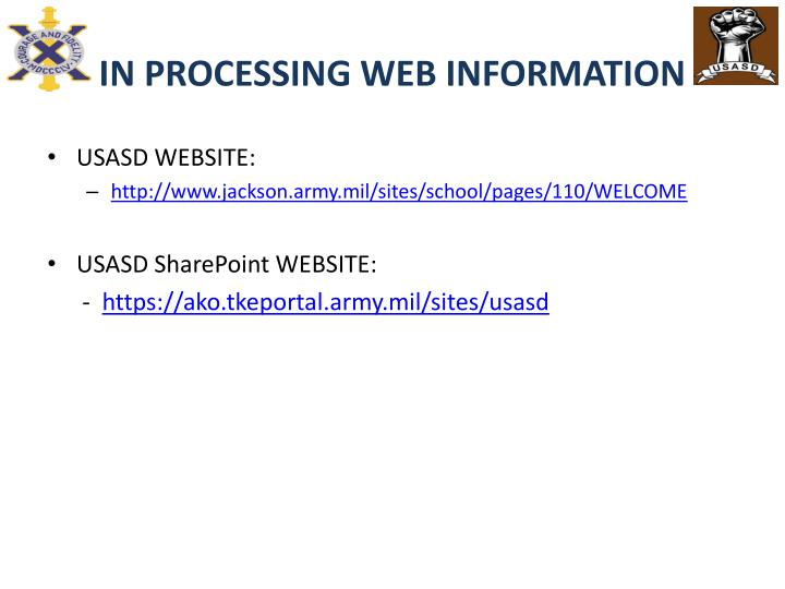 IN PROCESSING WEB INFORMATION