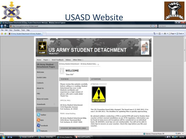 USASD Website