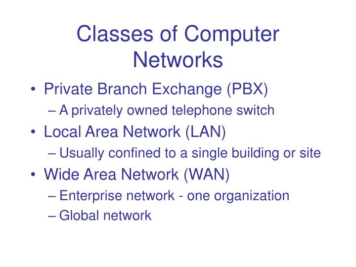 Classes of Computer Networks