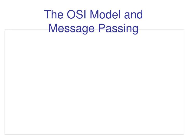 The OSI Model and
