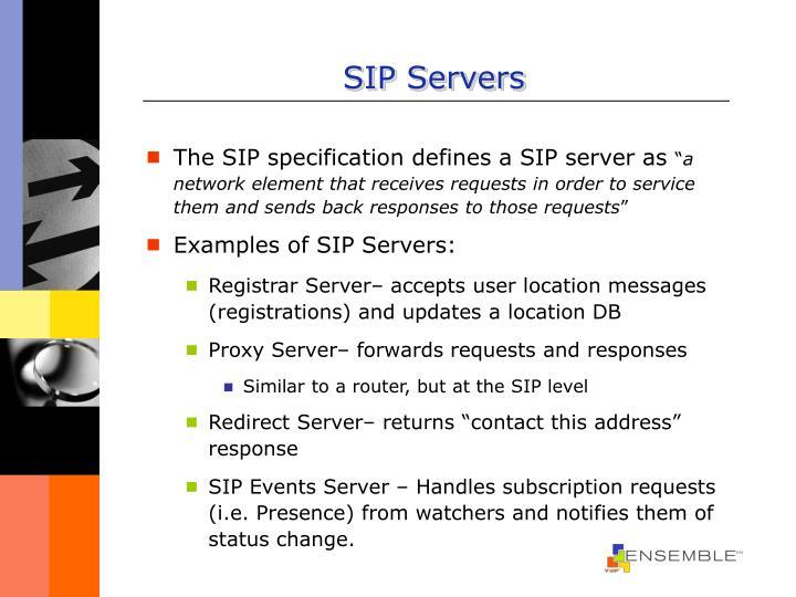 SIP Servers