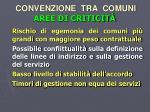 convenzione tra comuni aree di criticit
