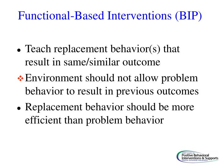 Functional-Based Interventions (BIP)