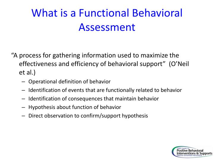 What is a Functional Behavioral Assessment
