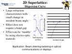 2d superlattice dispersion curve