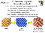 3d photonic crystals opals inverse opals