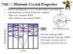photonic crystal properties1