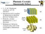 photonic crystals dimensionality defined
