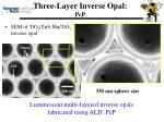 three layer inverse opal pcp