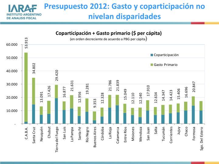 Presupuesto 2012: Gasto y coparticipación no