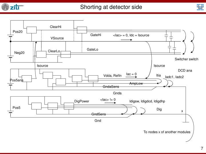 Shorting at detector side