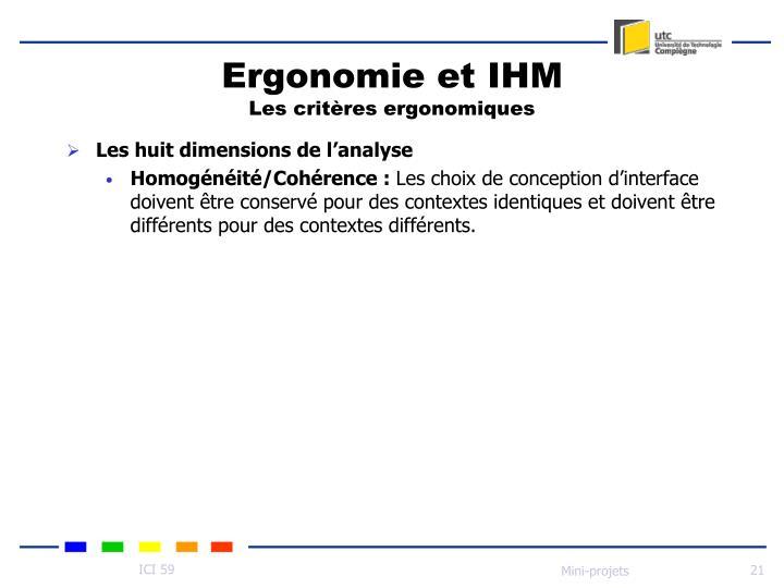 Ergonomie et IHM