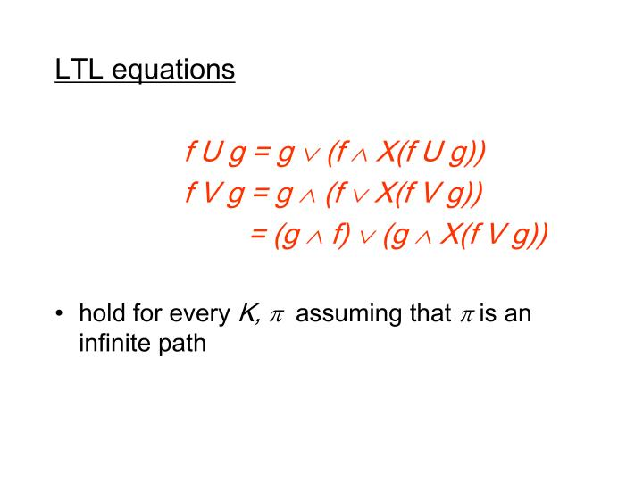 LTL equations