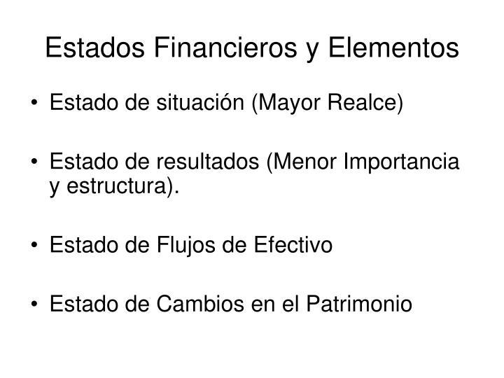 Estados Financieros y Elementos