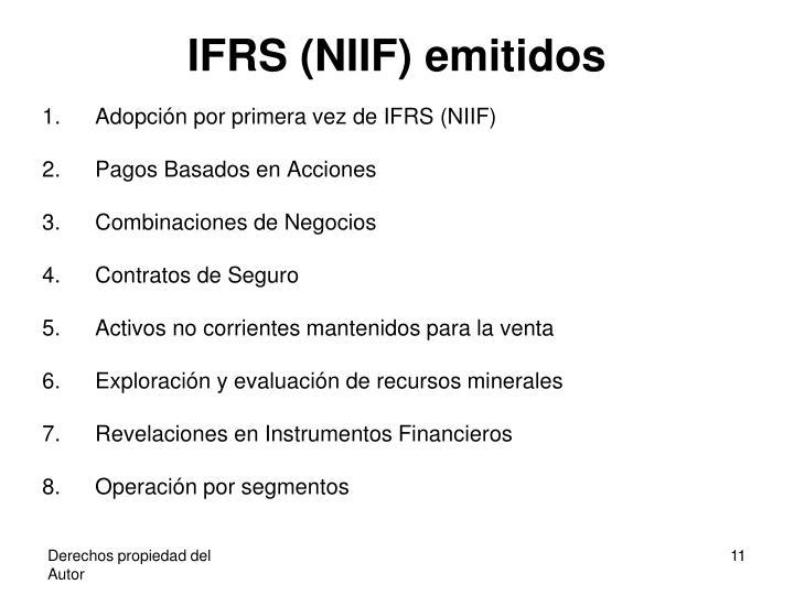 IFRS (NIIF) emitidos