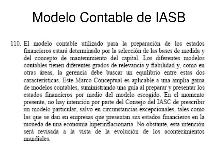 Modelo Contable de IASB