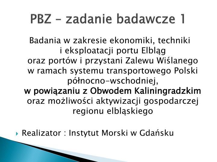 PBZ – zadanie badawcze 1