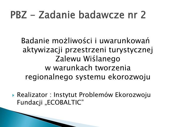 PBZ - Zadanie badawcze nr 2