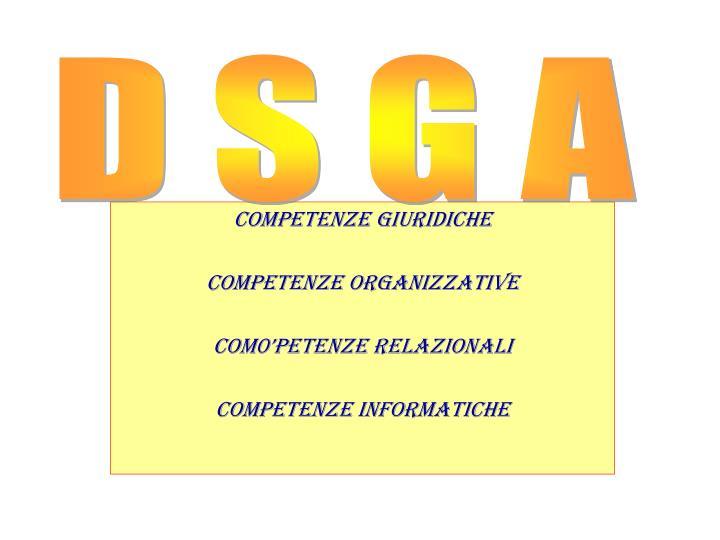 competenze giuridiche competenze organizzative com0 petenze relazionali competenze informatiche