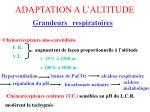 adaptation a l altitude