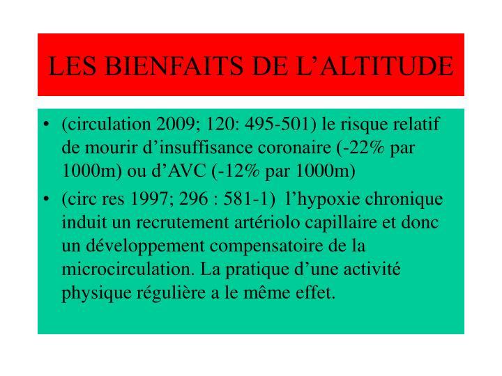LES BIENFAITS DE L'ALTITUDE