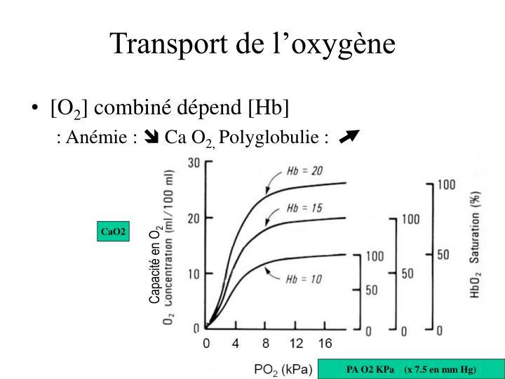 Transport de l'oxygène
