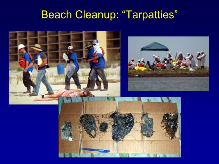 """Beach Cleanup: """"Tarpatties"""""""