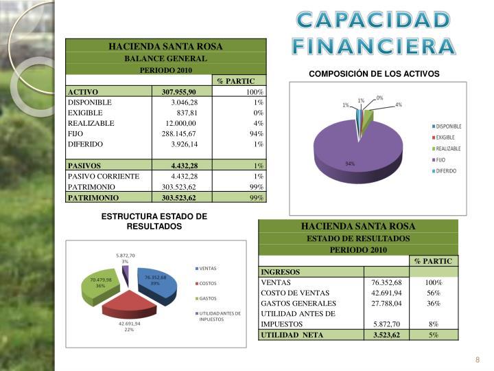CAPACIDAD FINANCIERA