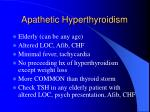 apathetic hyperthyroidism