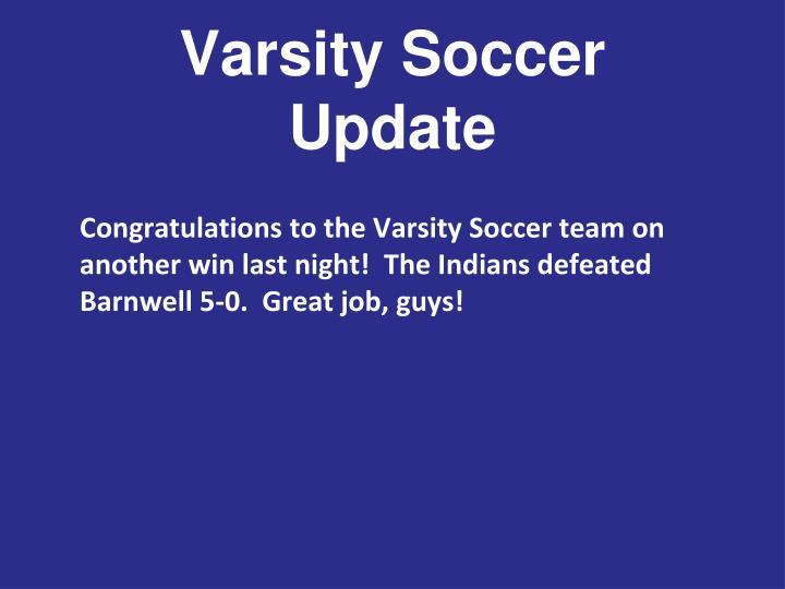Varsity Soccer Update