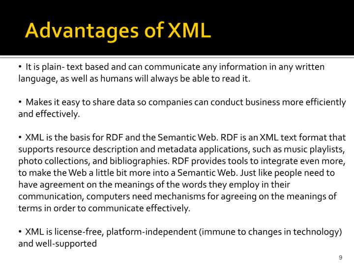 Advantages of XML