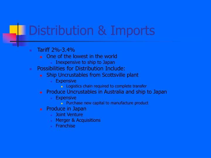Distribution & Imports