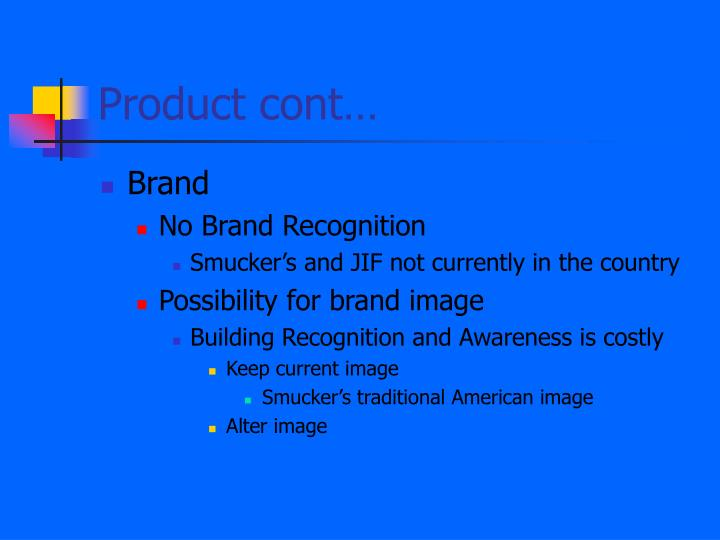 Product cont…