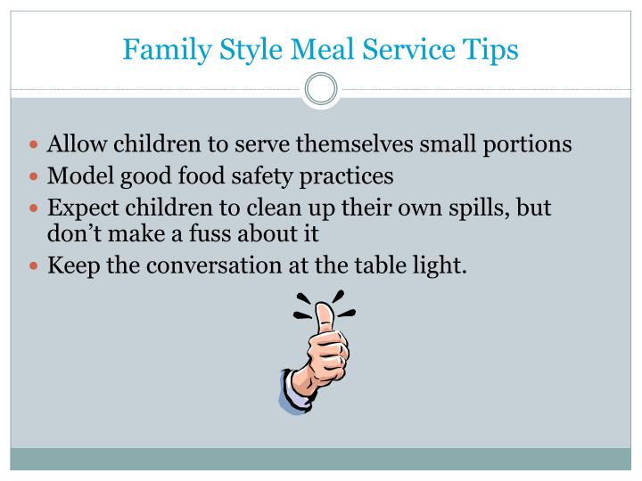 Family Style Meal Service Tips